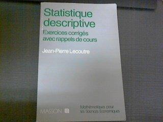 STATISTIQUE DESCRIPTIVE . EXERCICES CORRIGE