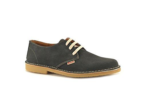 CONBUENPIE  400, Chaussures de ville à lacets pour homme Gris