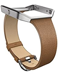 Fitbit Blaze Slim Leather Accessory Band, camel, Small