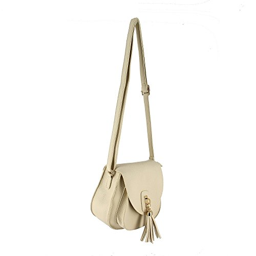 Ideal Shoes, Borsa a mano donna Beige