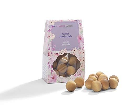 Hassett Green London Duftkugeln aus Holz - sinnlicher sinnlicher Duft von Lavendel und Rose - Alternative zu Pot Pourri Duft, Diffusor, Beutel, Schubladeneinlage - Lavendel Schublade Liner