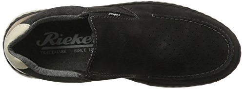 Rieker 15876, Mocassins Homme Gris (Antracite/anthrazit/amaretto/chalk / 45)
