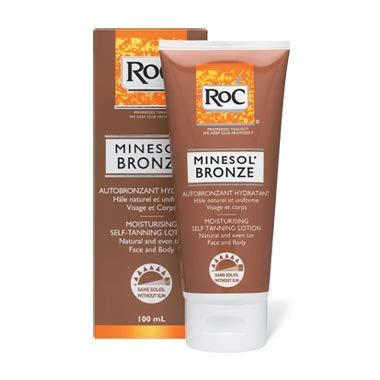 Roc' autoabbronzante idratante viso e corpo minesol bronze ultra rapido lunga durata spf 8 100 ml