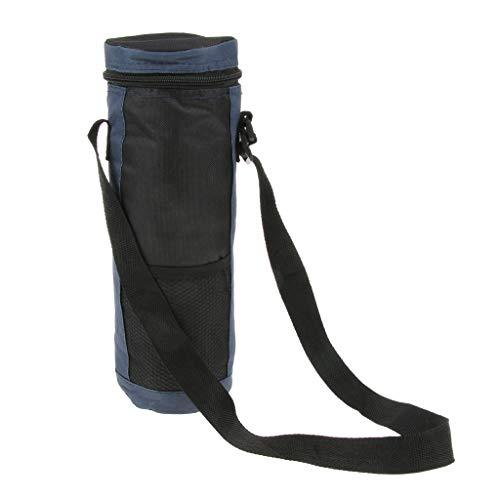 Baoblaze Outdoor-Isolierte Wasserflasche Beutel Kühltasche Tragetasche für Reisen, Camping, Wandern - Blau