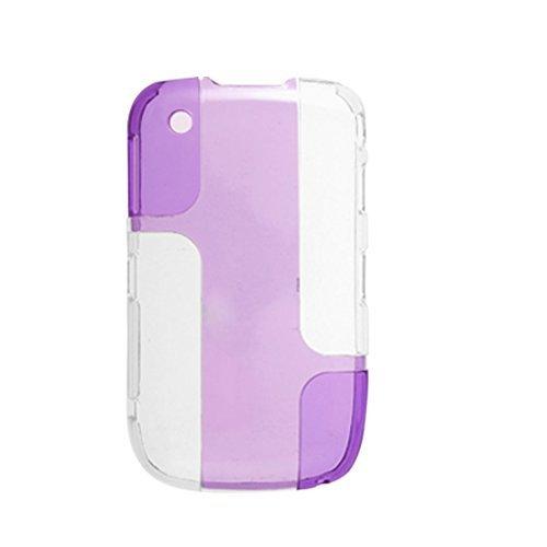 Lila Klar Double Color Hartplastik Fall für Blackberry Curve 8520 Blackberry Curve Fall