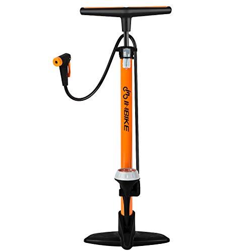 Pompa Da Pavimento, [160 PSI] [Con Manometro] Pompa Per Bicicletta Diyife Reversibile Automaticamente Per Presta & Schrader Con Ago A Sfera E Dispositivo Gonfiabile Perfetto Per Strada, Montagna,
