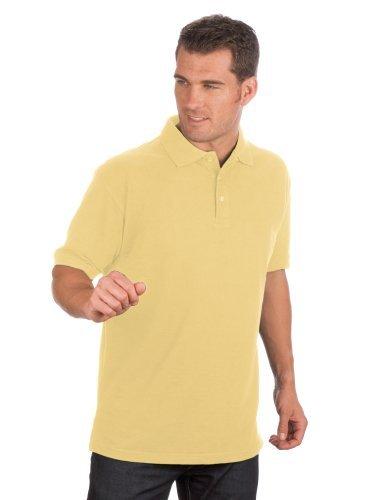 QUALITYSHIRTS Kurzarm Pique Polo Shirt Gr. S - 8XL Gelb