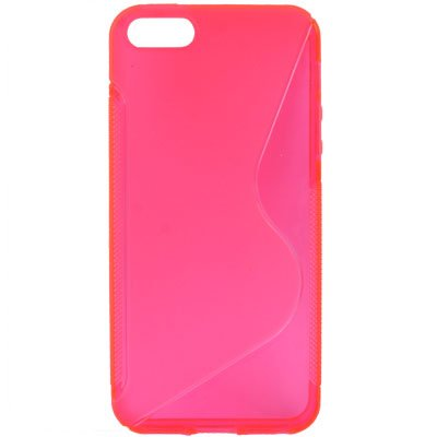 Coque Iphone 5/5s en rose/rose en silicone - Original seulement de thesmartguard