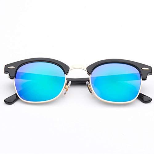 RMXMY Europa und die Vereinigten Staaten Retro-Mode Persönlichkeit Harz Sonnenbrille Metallrahmen Anti-UV-Unisex-Sonnenbrille (Color : C)