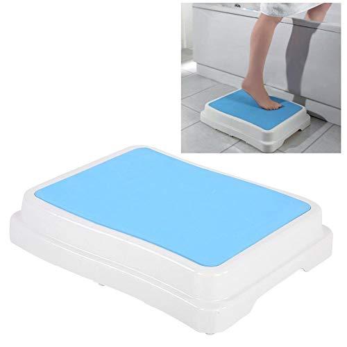 Trittstufe für Badezimmer, Badewannen Bad Stufe Stapelbar Badehilfe, Anti-Rutsch Oberfläche und Anti-Rutsch Füße, Belastbar bis 189Kg Höhe 10cm für sicheres Einsteigen in die Badewanne Dusche