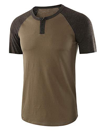 6b6db99cb Einfarbiges Rundhals-T-Shirt für Herren mit V-AusschnittHerrent-Shirt 01 XXL
