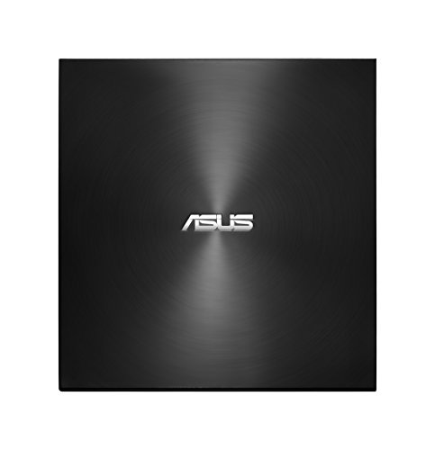 Asus ZenDrive U9M USB-C externer Ultra SLIM DVD Brenner (inkl. USB-C Kabel, Brennsoftware & Nero Backup App), für Apple MacBooks und Windows PCs/Notebooks, USB 2.0, schwarz