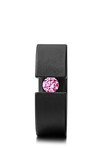 Heideman Ring Damen Forma schwarz aus Edelstahl schwarz matt Damenring für Frauen mit Swarovski Stein Zirkonia