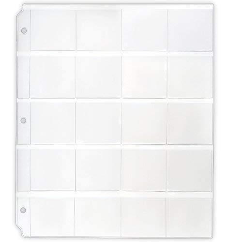 STORE SMART StoreSMART - Binder Page for Samples, Swatches, Coins, Slides Top Load, Clear Plastic 12-Pack VH1173-12