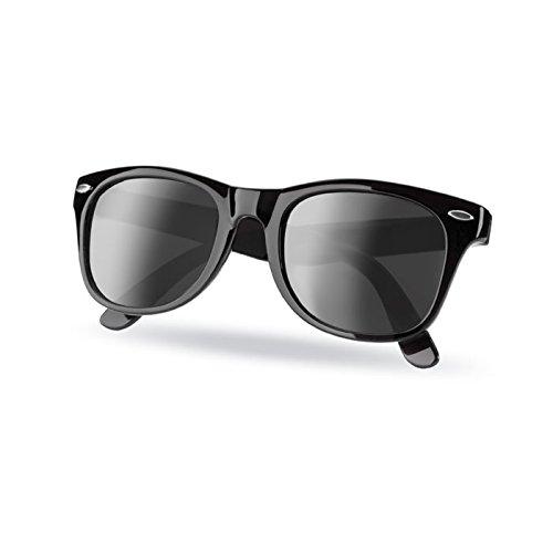 FriendlyFox® Sonnenbrille im Nerdlook - UV 400 Schutz - Wayfarer-Look mit hochwertigem Kunststoffgestell - Strandsonnenbrille - Unisex
