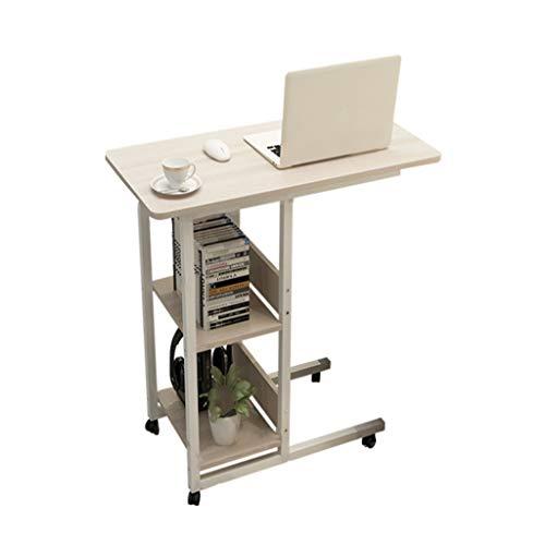 HQCC Bureau d'ordinateur, Table paresseuse, Bureau lit à la Maison, (Table de Chevet Amovible Couleur Bois 80 * 40 * 74cm) (Couleur : Brown)