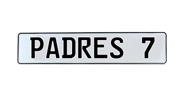 Vintage Parts 542563 PADRES 7 MLB San Diego White Stamped Street Sign Mancave Wall Art