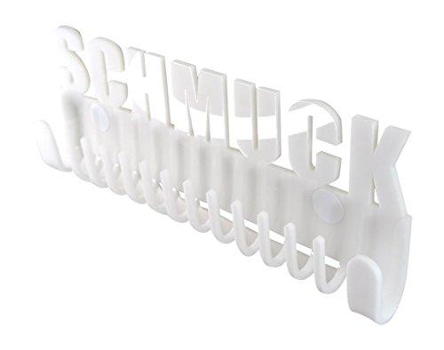Schmuckhalter Galeara Design Schmuckleiste Wand mit Schriftzug Schmuck Weiß