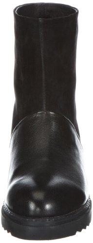 P1 Chamonix Damen Biker Boots Schwarz (Black)