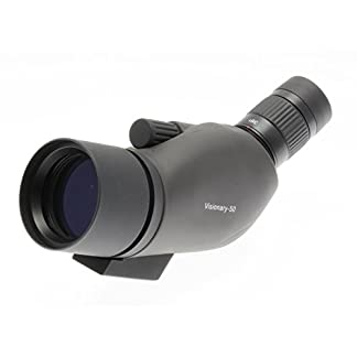 Visionary Spotting Scope V-50 Straight 12-36x50 (Grey Body Version) BAK4 Waterproof/Fog Resistant, Multicoated, Table-top Tripod & Carry Case