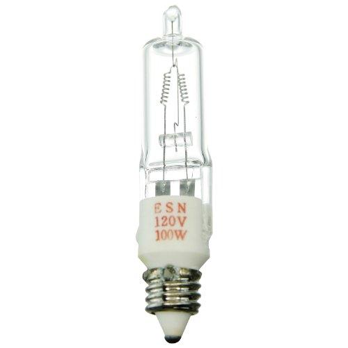 Sunlite ESN 100W/T4/120V/CL/E11100W 120-volt Mini Kann basierend Stage und Studio T4Glühbirne, klar, -