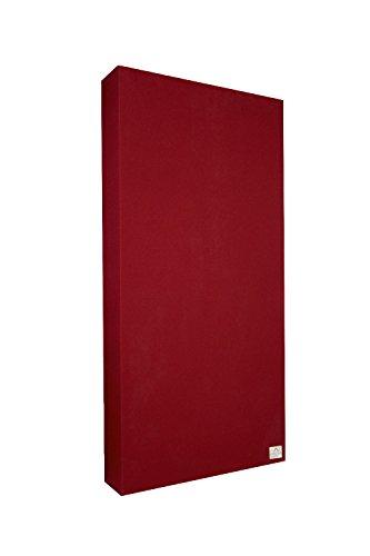 Premium Sound Absorber 100x50x10 cm by Addictive Sound Akustikpaneel, Homerecording, akustische Isolierung, Bassfalle, Schalldämmung für Studio, Büro, Zuhause, Konferenzsaal, viele Farben (Rot) -