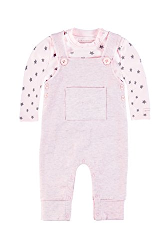 bellybutton KiKo Unisex, Strampler, Set 2tlg. T-Shirt 1/1 Arm + Overall, Rosa (cradle Pink 2994), 62