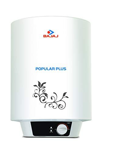 Bajaj Popular Plus Storage 15-Litre Vertical Water Heater, White, 4 Star