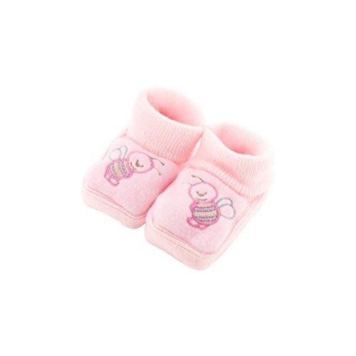 Chaussons pour bébé 0 à 3 Mois rose - Motif Abeille