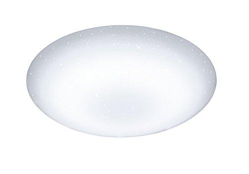 WOFI Deckenleuchte, 1-flammig Serie Ceres Energieeffizenzklasse A+ Farbtemperaturwechsler, 53 x 13,5 x 53 cm, weiß, 9545.01.06.0000