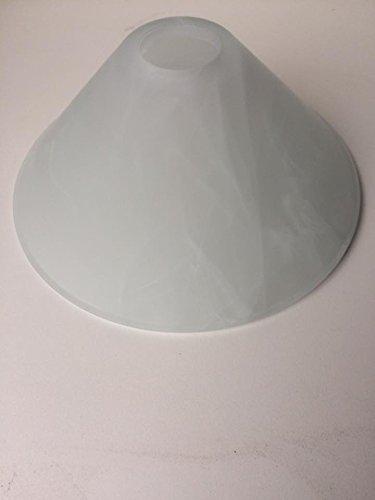 Ersatzglas /Lampenglas/Leuchtenglas/Ersatzglas/Lampe/Leuchten/E27 /Alabasterfarbig/Ersatzschirm/Lampenschirm Höhe 10 cm Fassung E27 Lochöffnung 41 mm Durchmesser unten 24 cm -