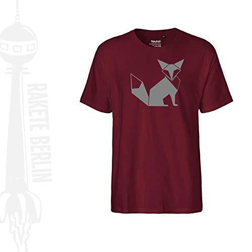 FairTrade Herren T-Shirt 'Fuchs Origami' Bio-Baumwolle -