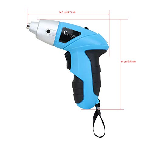 Voroly Rechargeable Cordless Screwdriver Set for Home with LED Light