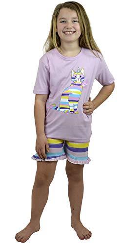 Regenbogen Kitty Mädchen Shortie Schlafanzug 13 Jahre