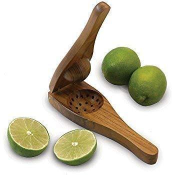 Abhi Creation Wooden Lemon Squeezer Brown Color