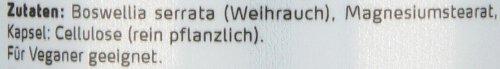 Greenfood Weihrauch (Boswellia serrata), 400mg, hochdosiert, 120 Kapseln
