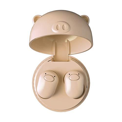 Yowablo Bluetooth Kopfhörer in Ear, Kabellos Kopfhörer Sport Bluetooth Ohrhörer für Samsung Huawei ( Beige )