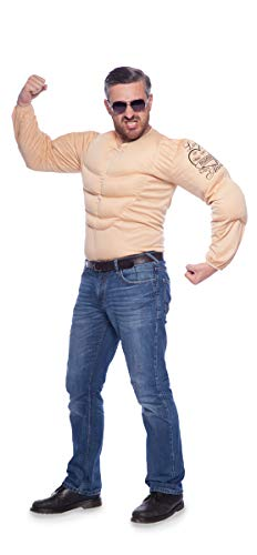 Folat 21971 Kostüm Sixpack mit Tattoos, Einheitsgröße, hautfarben, One ()