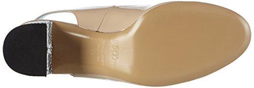 Pollini - Scarpad.dd Sq3/55 Vern.nude/Dom.bn, Sandali Donna Beige (60A NUDE PATENT LEATHER-WHITE-BLACK DOMINO PVC)