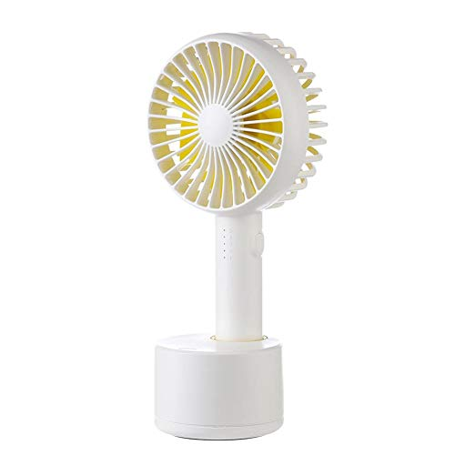 Ecotrump Tagbarer USB-Handventilator 5 Geschwindigkeit einstellbar Kühler Mini-Lüfter handliche kleine Desktop-USB-Lüfter 120 Grad rotierenden stille elektrische Fan (weiß)