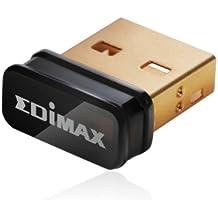 Edimax EW-7811UN - Adaptador de red USB (Interfaz de host USB, b/g/n, 150 Mb/s), negro