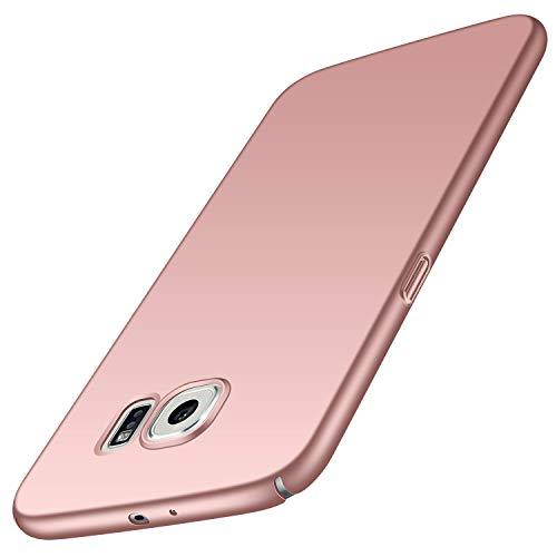 Avalri für Samsung Galaxy S6 Hülle, Ultradünne Handyhülle Hardcase aus PC Stoß- & Kratzfest Kompatibel mit Samsung Galaxy S6 (Glattes Rosen-Gold)