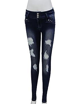 FARINA® 6016 Denim pantalones, vaqueros de mujer, Push up/Levanta cola, pantalones vaqueros elasticos colombian...