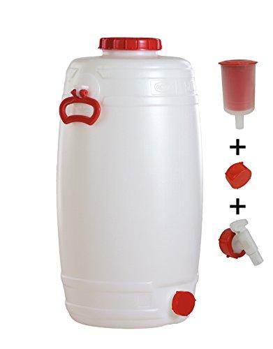 Graf Getränkefass Rund 50 Liter mit Auslaufhahn NW 15 und Gärspund