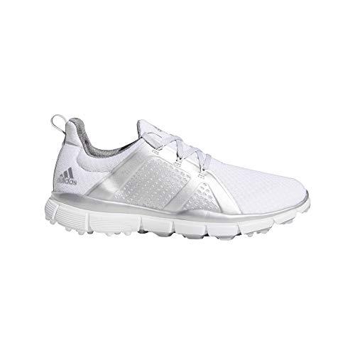adidas - Scarpe da Golf da Donna Climacool Cage da Golf, vestibilità Regolare, Colore: Bianco/Argento/Grigio