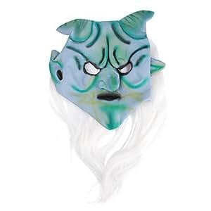 corne de chèvre avec des cheveux crier masque blanc costume pour halloween party leatherface