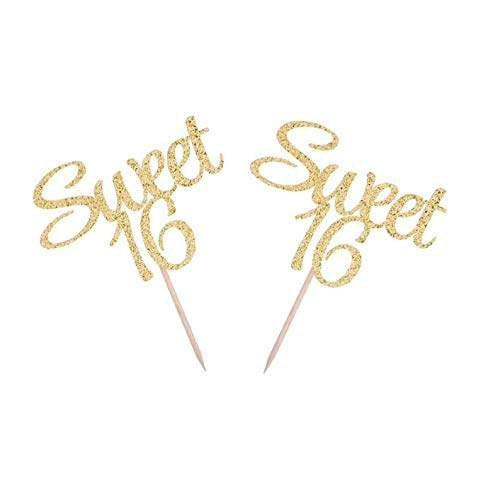 per, Sweet 16 Party-Dekorationen, Sweet 16 Party Decor, Sweet 16 Birthday Party Cake Topper, Girl 16th Cupcake, Sweet 16 ()