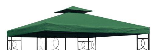 Pavillon Ersatzdach 3x3 Meter - grün - wasserdicht / Kaminabzug - Pavillondach