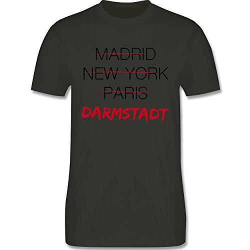 Städte - Weltstadt-Darmstadt - Herren Premium T-Shirt Army Grün