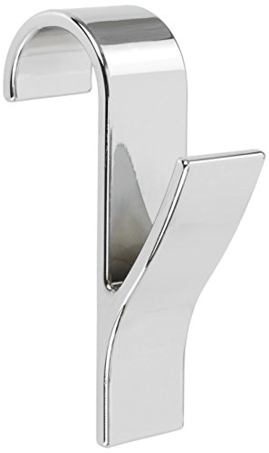 Wenko 81912500 Rundheizkörper Haken, 4-er Set, Kunststoff ABS, 2,5 x 10,5 x 7 cm, chrom